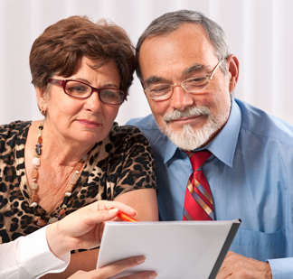 Senior Couple at a Meeting